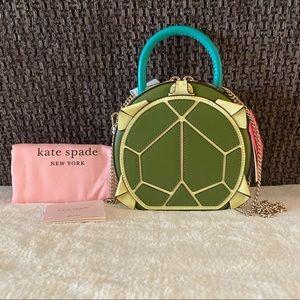 NWT Kate Spade Andi Turtle Mini Chain Canteen Bag